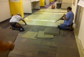 (Wells Fargo Call Center – San Antonio carpet tile installation)